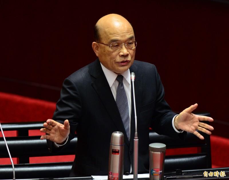 綠委籲改國名英譯 蘇揆:若要改應為Taiwan