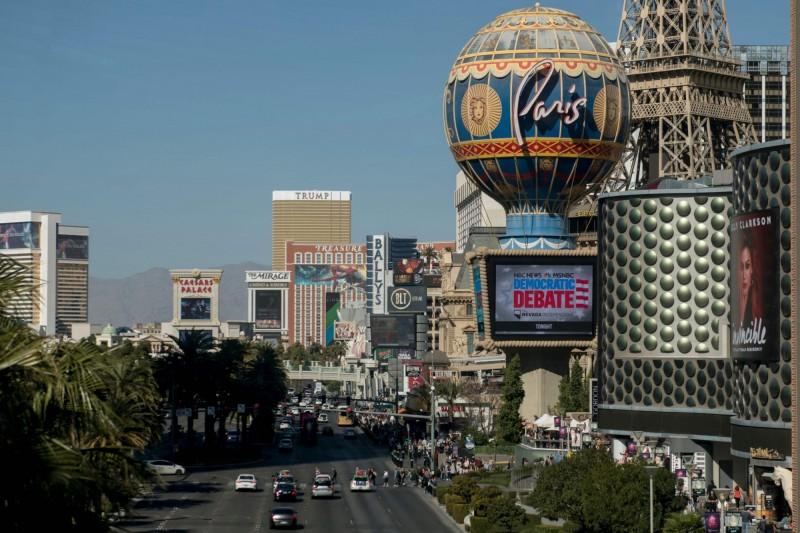 拉斯維加斯賭場是內華達州的經濟命脈,但為了避免疫情擴散,賭場也將關閉。(法新社)