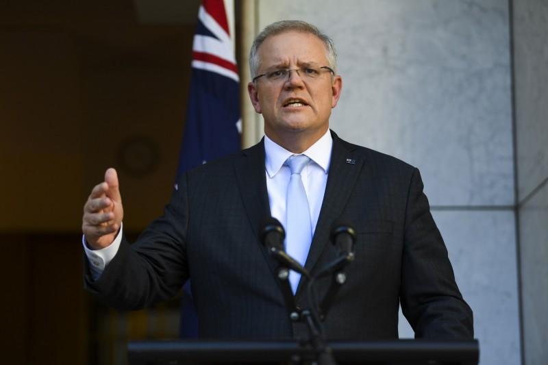 澳洲總理斯科特·莫里森(Scott Morrison)和紐西蘭總理傑辛達·阿爾登(Jacinda Ardern)於今日先後宣布將禁止外籍人士入境,封鎖邊界。(歐新社)