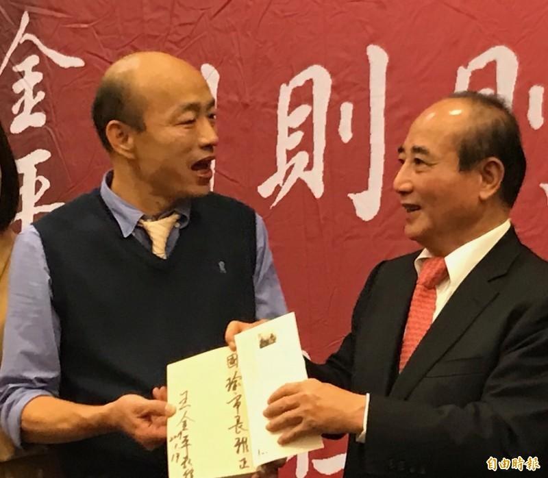 韓國瑜提前幫王金平暖壽,台灣基進酸說:「韓市長臉皮真的很厚」。(資料照)