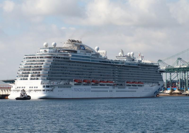 因疫情迅速蔓延,美國總統川普表示,嘉年華公司將提供遊輪改建為海上臨時醫院。(法新社)