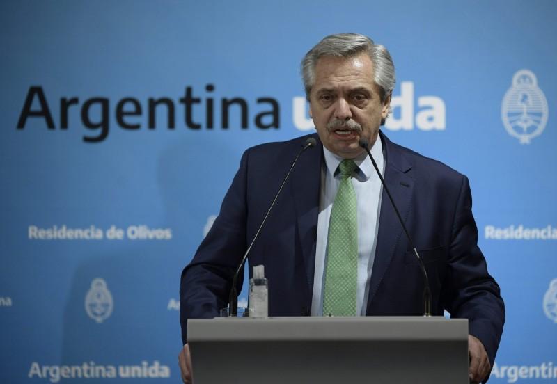 阿根廷總統費南德茲(Alberto Fernandez)。(法新社)