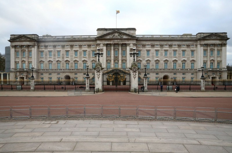 英國白金漢宮出現人員確診。(路透)