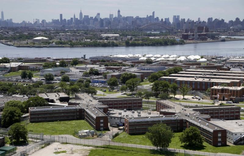 紐約市里克斯島監獄。(美聯社)
