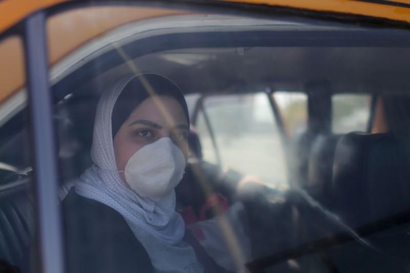 巴勒斯坦的加薩走廊首次出現疫情。(路透)