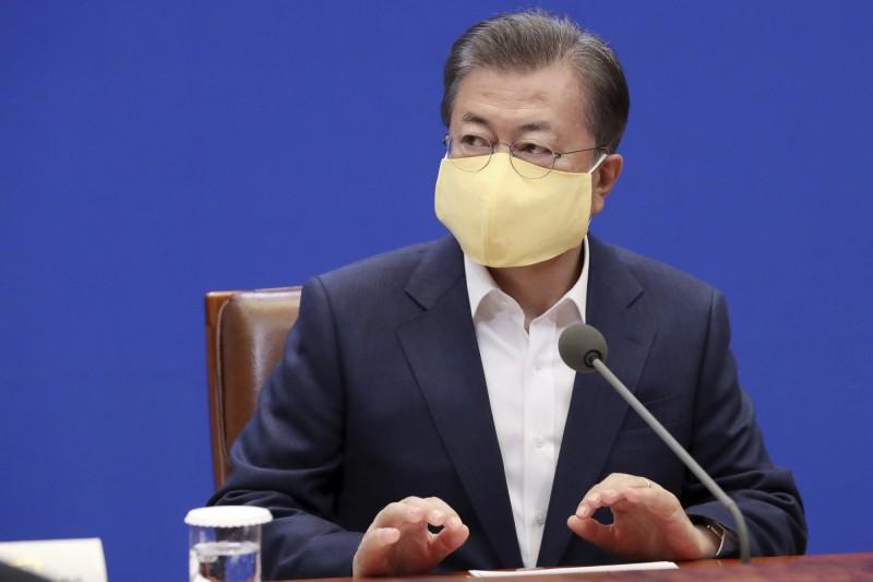 南韓總統文在寅下令徹查「N號房」集體性剝削案。(美聯社資料照)