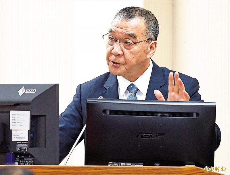 國安局長邱國正昨在立院答詢時指出,中國政府為了轉移疫情內部民怨,有可能中止「兩岸經濟合作架構協議(ECFA)」。(記者陳志曲攝)
