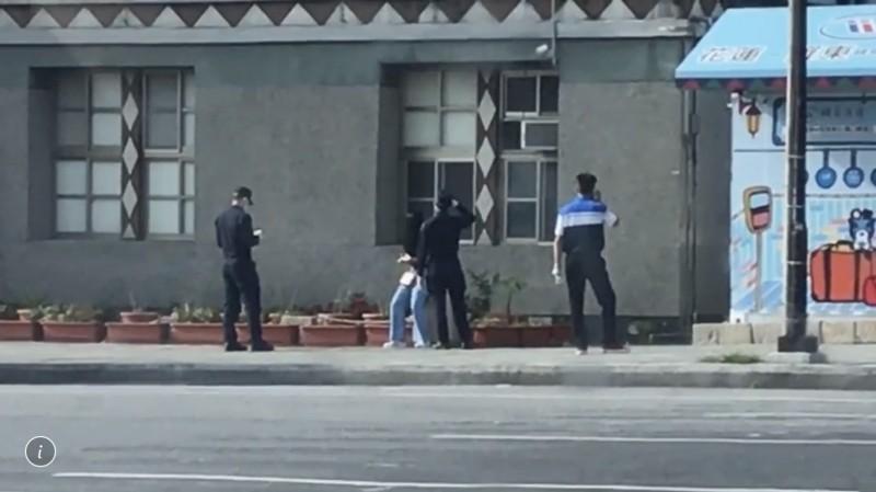 泰國女子今天出現在花蓮車站附近,被警方逮個正著,送往北部隔離安置。(警方提供)