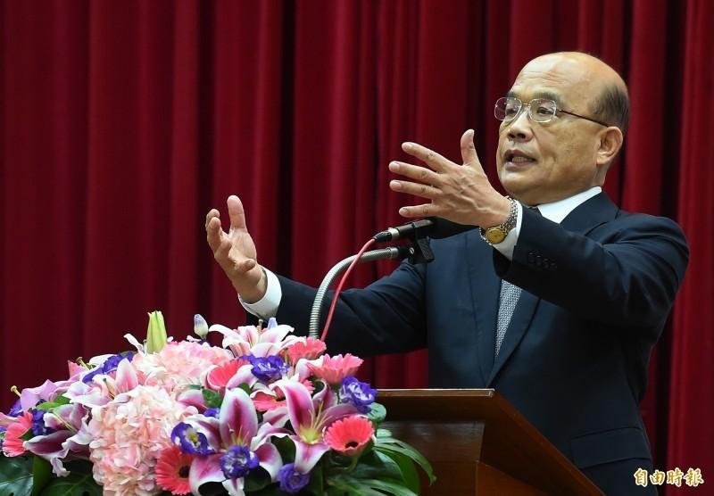 民調指出,行政院長蘇貞昌(見圖)滿意度為57%。(資料照)<br /><p>