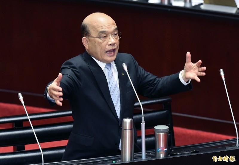 行政院長蘇貞昌今天將拍板農民退休金制度。(資料照)