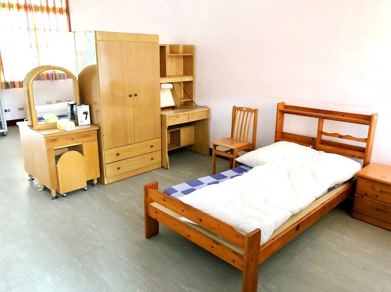 A room at the Hualien County's quarantine center is pictured in an undated photograph. Photo provided by the Ministry of Foreign Affairs
