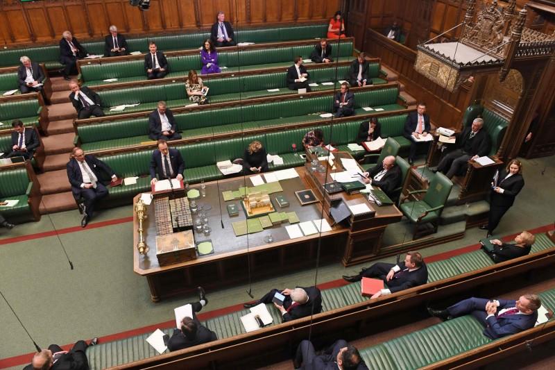 考量到疫情風險,英國下議院即日起提前休會,預計4月21日重新開議。(法新社)