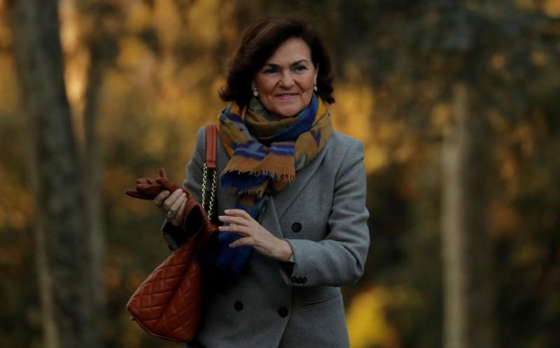 西班牙副總理卡爾沃(Carmen Calvo)。(路透)