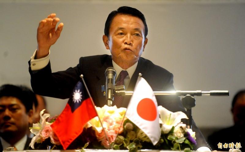 日本副首相麻生太郎毒舌WHO改為CHO,並讚美台灣防疫第一名的國家。(資料照,記者林正堃攝)