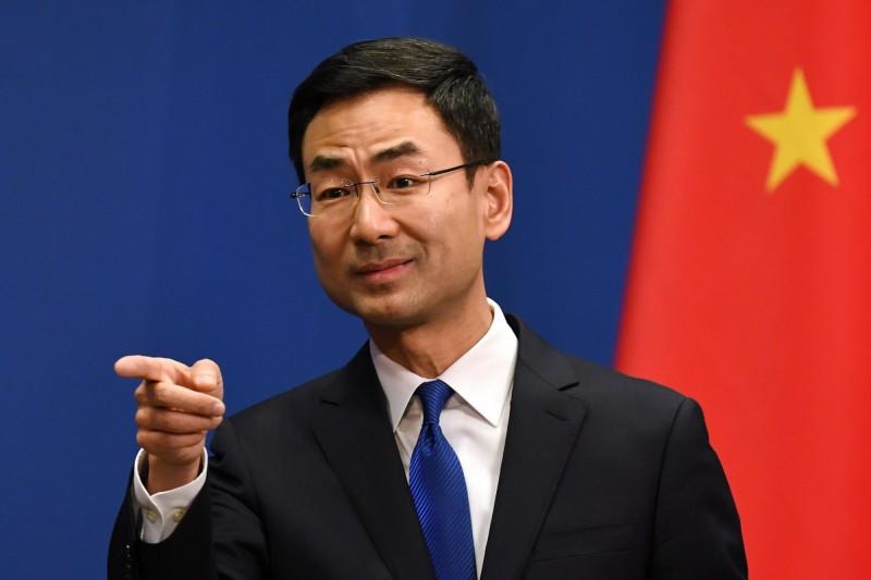 中國外交部發言人耿爽。(法新社)