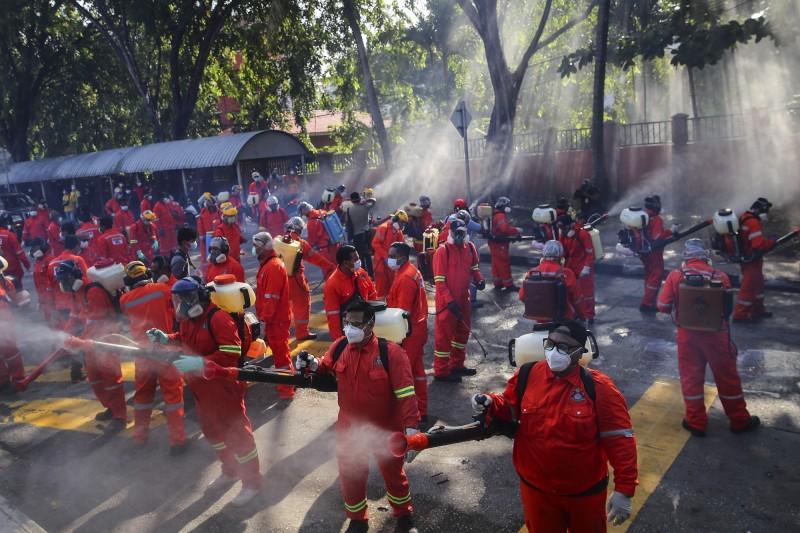 馬來西亞新增159起武漢肺炎確診病例,全國累計2320例;死亡病例累計27例。(歐新社)
