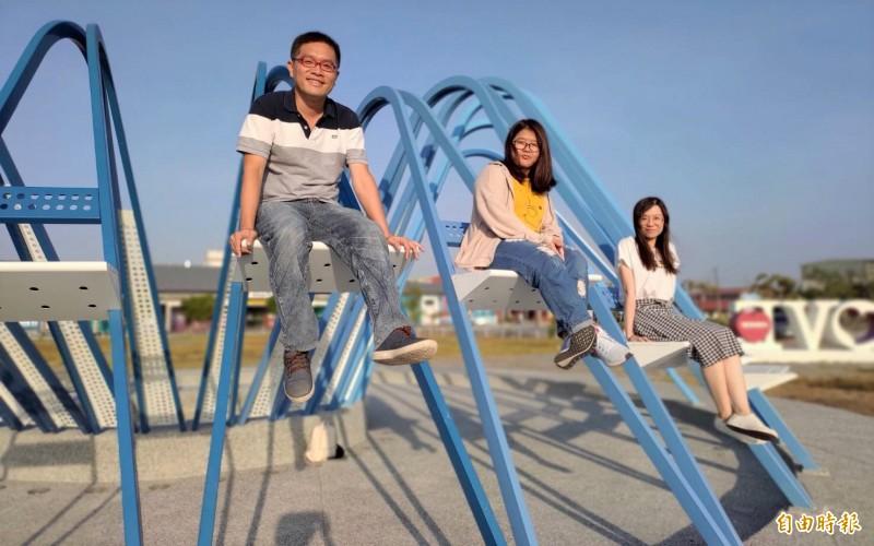 台南市北門遊客中心前方大草坪上的「夢幻島」裝置藝術。(資料照,記者楊金城攝)