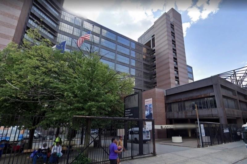 命案發生地紐約布魯克林伍德哈爾醫院。(翻攝自Google地圖) )