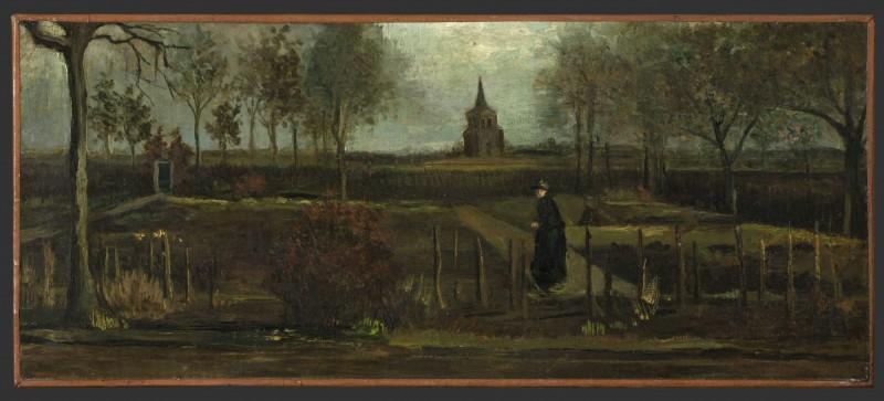 梵谷的畫作「春天花園」(De Lentetuin)。(歐新社)