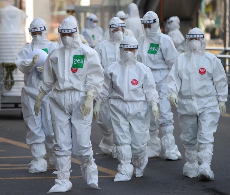 南韓疫情近日逐漸趨緩。(歐新社)