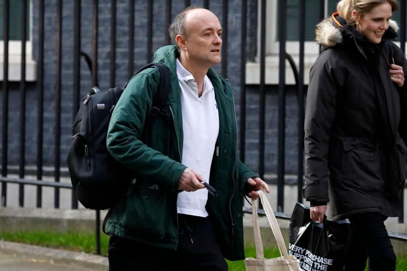 今日傳出英國首相的高級顧問康明斯(見圖)出現武漢肺炎症狀,目前正遵守指示,進行自我隔離。(法新社)