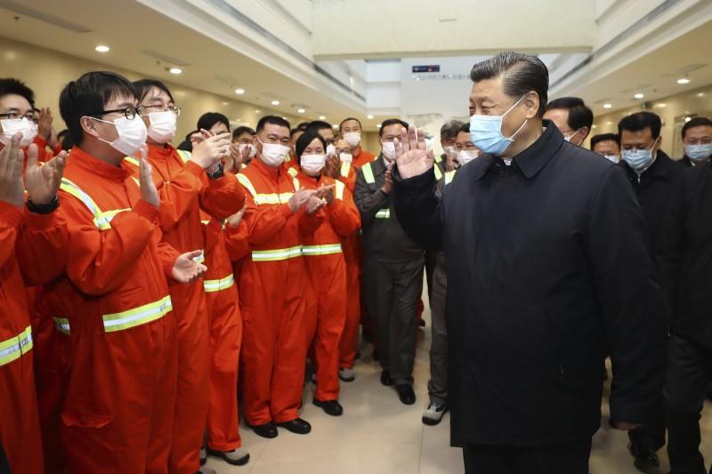 中國國家主席習近平29日到浙江巡視復工復產。(法新社)
