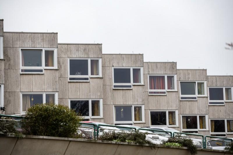 德國沃爾夫斯堡市爆養老院內有17名老人集體感染武漢肺炎死亡。圖為這家養老院外觀。(歐新社)