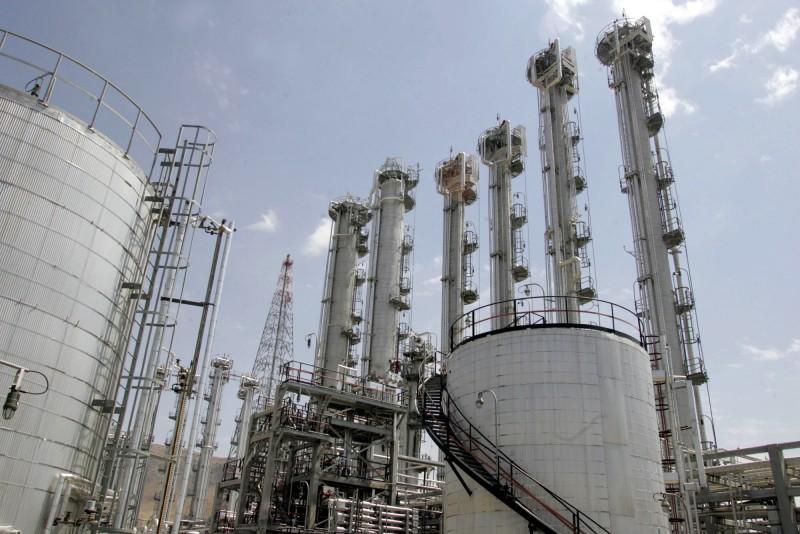 圖為伊朗的阿拉克重水反應爐。(法新社)