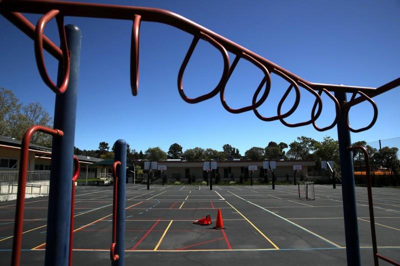 加州州長紐森(Gavin Newsom)宣布,加州所有公立學校本學期都不會再開放,直到9月新學期開始。(法新社)