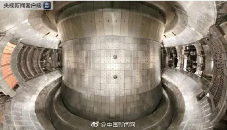 中國「東方超環EAST」是中國第4代核融合實驗裝置。(圖取自中國央視)