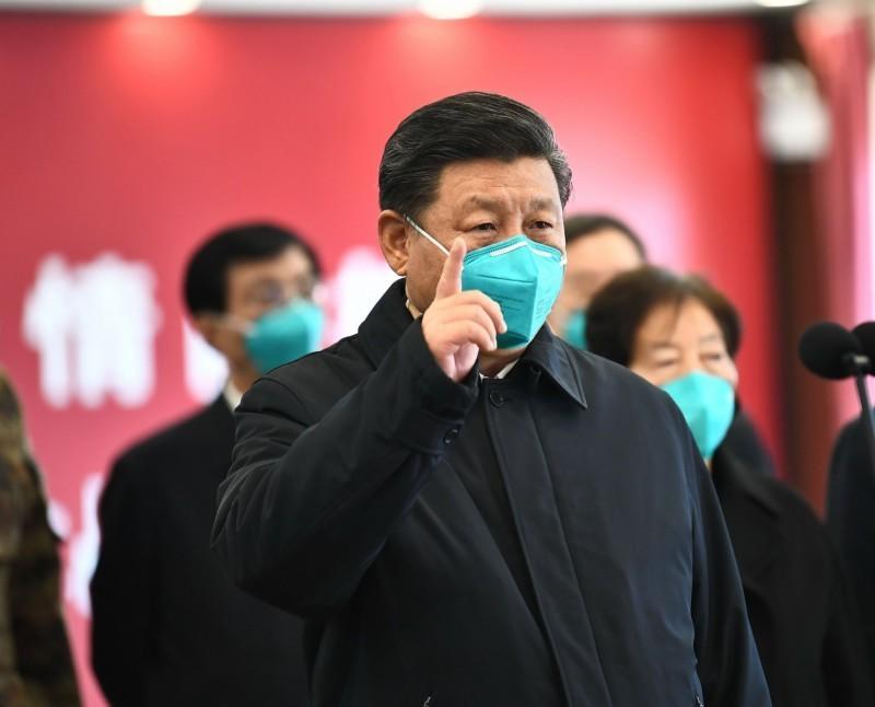 美國與中國日前為了武漢肺炎名稱上演外交大戰,而美國總統川普先前在社群媒體稱武漢肺炎為「中國病毒」,更引發中方不滿。圖為中國國家主席習近平。(法新社)