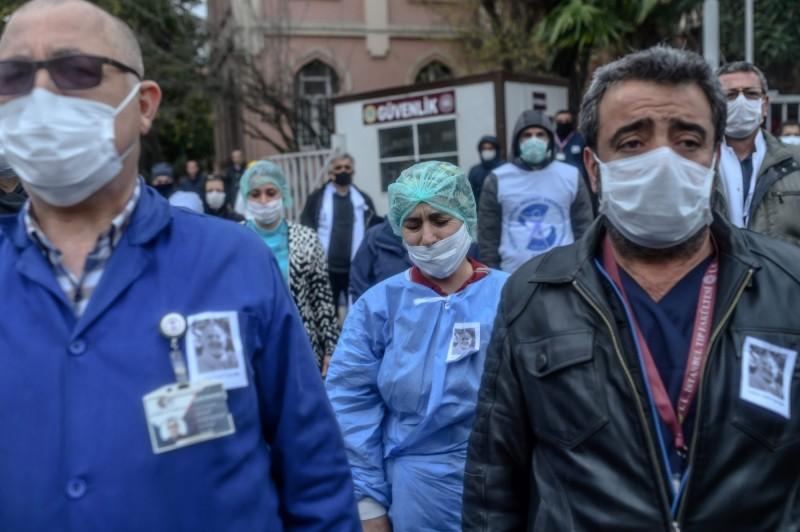 武漢肺炎疫情持續在全球擴散。(法新社)