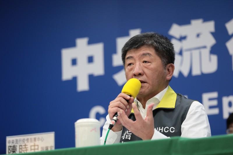 中央流行疫情指揮中心指揮官陳時中表示,他認為台灣清明連假後,疫情像日本一樣爆發的可能性非常低,主要因為相關群聚感染沒有、社區傳染也很零星,所以目前也沒有要下達禁足令,但未來是否有可能實施,還是要看疫情發展到哪個階段,至少目前沒有跡象。(中央流行疫情指揮中心提供)