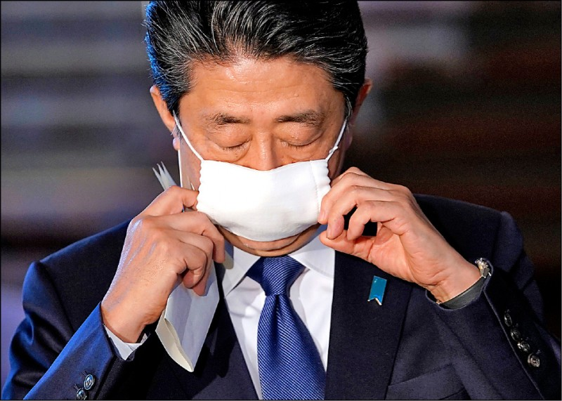 日本首相安倍晉三預定七日對東京、大阪等七個都府縣發布「緊急狀態宣言」,八日生效。(歐新社)