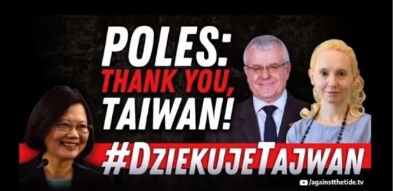 波蘭電視台6日於臉書向台灣致謝。(圖擷取自Idź Pod Prąd Facebook)