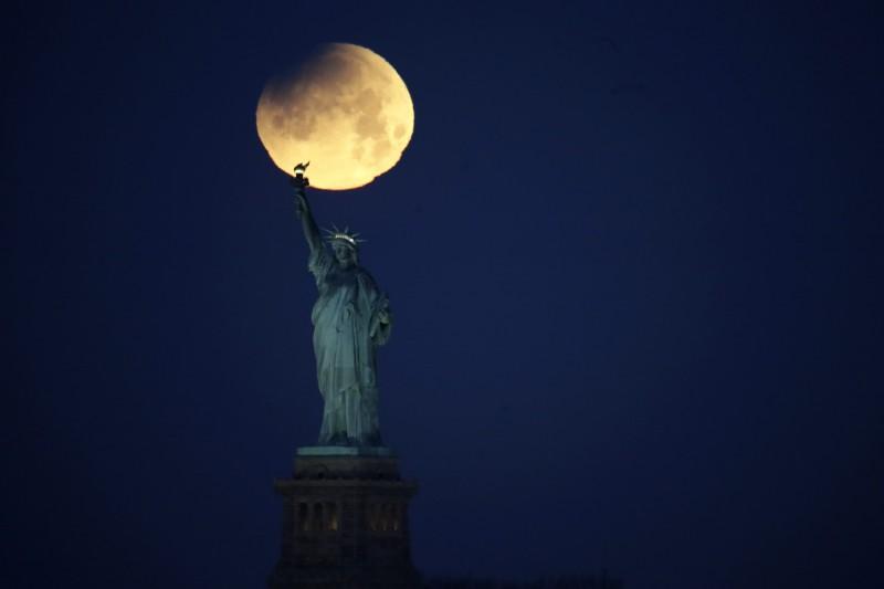 美國紐約自由女神像。(美聯社)