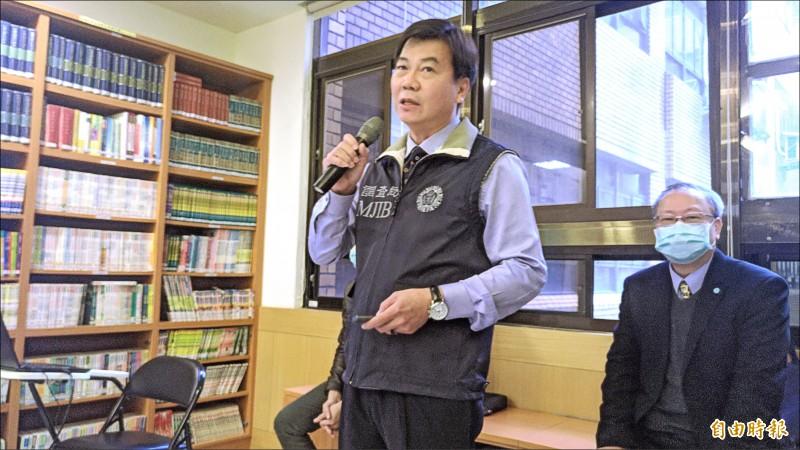 調查局首任資安工作站主任張尤仁。(記者吳政峰攝)