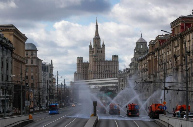 俄國境內武漢肺炎疫情重災區是首都莫斯科,累計1萬158例確診,過去一天新增1306例。(路透)