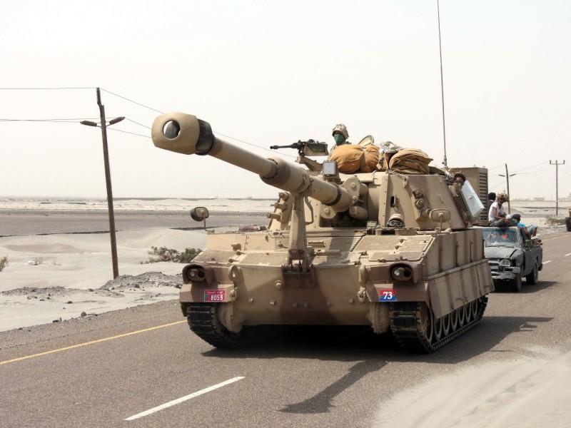 美國已批准向荷蘭出售199枚M982Al「神劍」戰術砲彈。圖為美製M109自走砲。(歐新社)