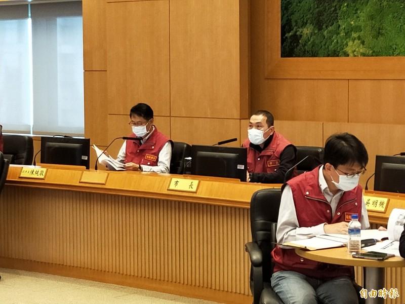 新北市長侯友宜呼籲中央給予地方政府更多資源,規劃紓困方案。(記者賴筱桐攝)