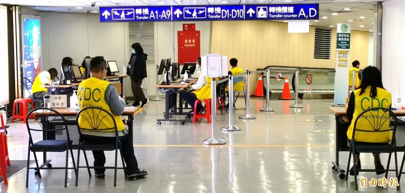 桃園機場4月14日一期航站入境人數掛蛋。(記者姚介修攝)