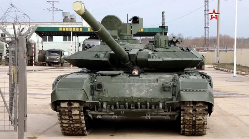 俄羅斯陸軍已接收首批升級後的T-90M「突破-3」(Proryv-3)戰車。(照片取自俄羅斯軍方媒體Zvezda影片)