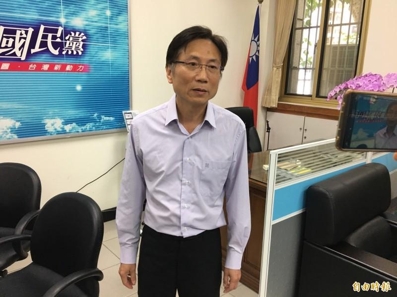 指控陳柏惟是共幹遭起訴,桃園市議員詹江村強調,所有指控都有憑據。(記者謝武雄攝)