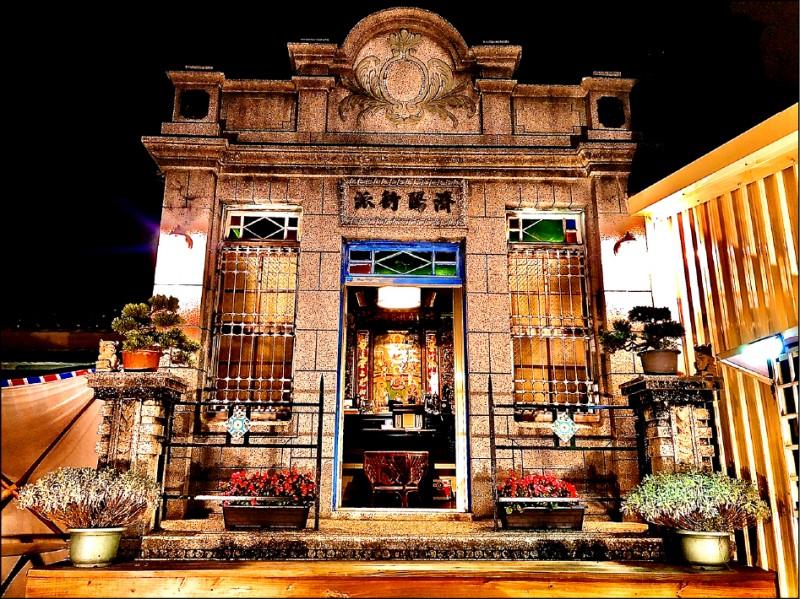 嘉義縣大林鎮中山路江家百年古厝,以「大林濟陽衍派街屋」名稱,登錄為歷史建築。(記者蔡宗勳翻攝)