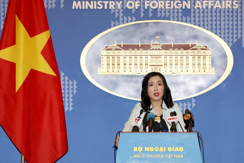 中國在主權爭議的南海設立2個行政區,越南外交部發言人黎氏秋恆(見圖)對此表示,「越南要求中國尊重越南主權,廢止這些不具正當性的決定」。(歐新社檔案照)