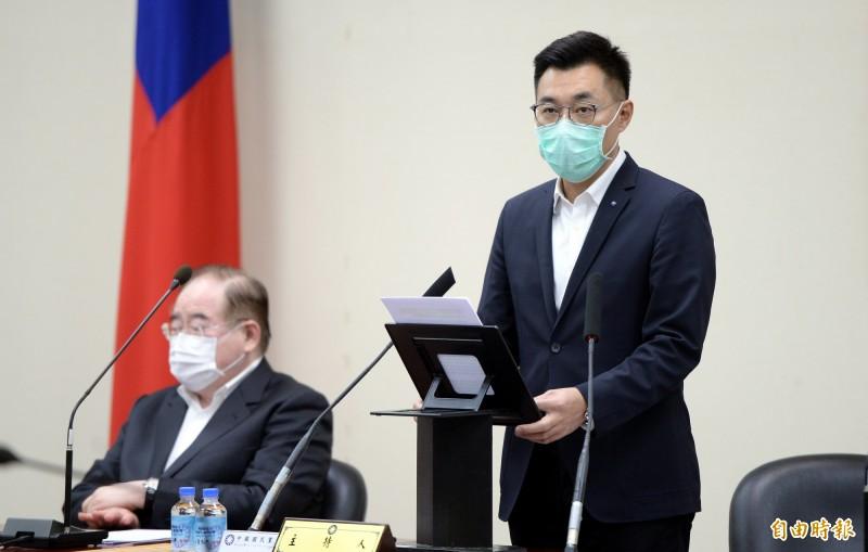 國民黨表示,黨主席江啟臣將分享其對於中華民國目前可以妥善處理新型冠狀病毒疫情的觀察。(資料照)