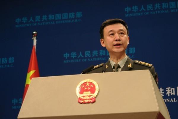 中國國防部發言人吳謙(見圖)不滿表示,美國防部罔顧事實、混淆視聽。(中央社資料照)