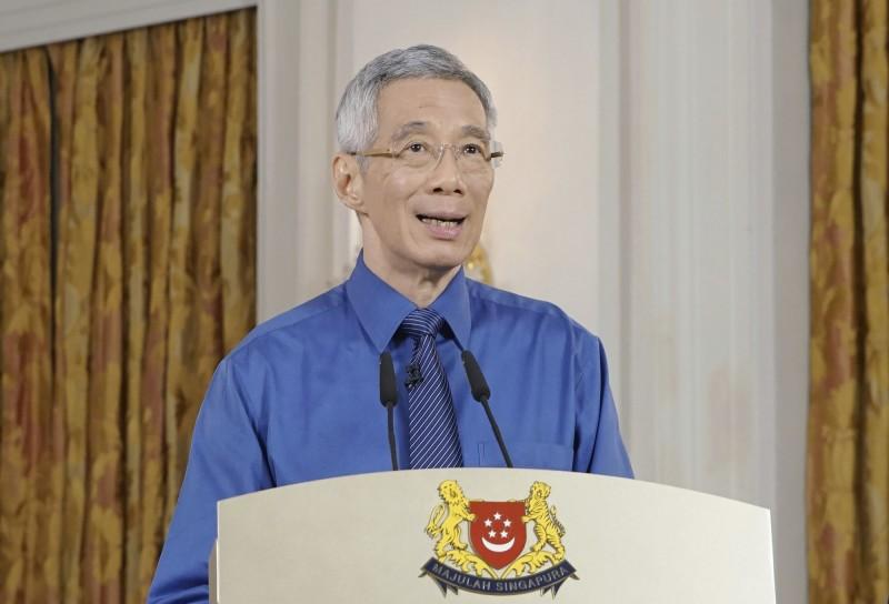 新加坡總理李顯龍今日宣布,原本預計實施到5月4日的阻斷措施將再延長至6月1日。(美聯社)