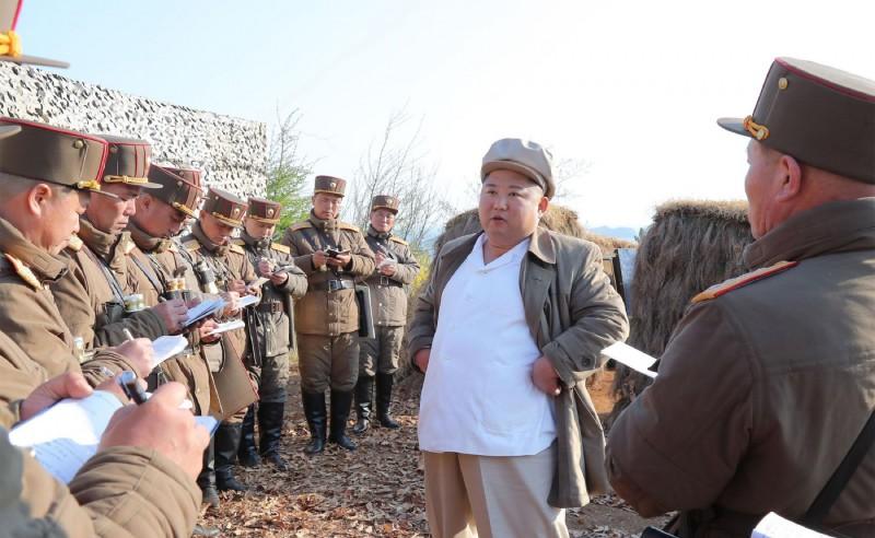 北韓領導人金正恩。(法新社)