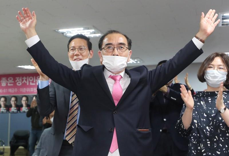 北韓官職最高的脫北者,前北韓駐英國公使太永浩成為南韓史上首位當選國會議員的脫北者,他認為北韓官媒對於金正恩命危消息保持沉默相當不尋常。(歐新社)